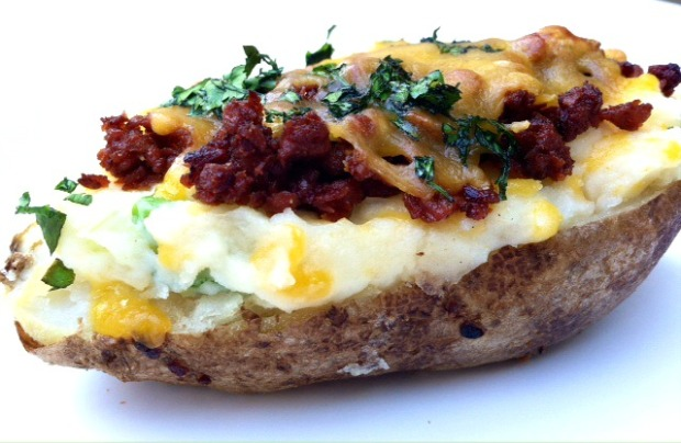 Twice Baked Potatoes with Soy Chorizo